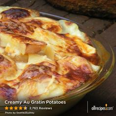 "Creamy Au Gratin Potatoes | More than 2,000 fellow home cooks awarded this recipe 5 stars. | ""I made two huge pans of this for a party with 30+ people and it all went. Definitely a favorite of mine."" — EMILY91183"