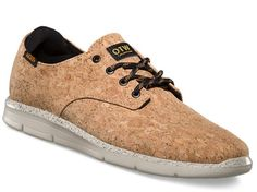 Vans eco-friendly, sustainable Cork-clad sneakers (http://www.ecouterre.com/vans-introduces-prelow-sneaker-made-from-cork/ )