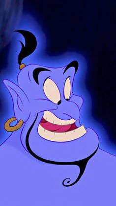 """Genie is my most favorite character from """"Aladdin"""" I love it so much better when Robin Williams voiced him. R.I.P."""