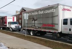 Spotted: Life Fitness delivery trucks at the La Porte County Family YMCA in Indiana. Nothing like waking up to the sight of new equipment.
