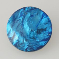 1 PC - 18MM Blue Foil Resin Silver Candy Snap Charm KB2240 CC0093