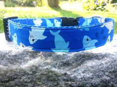 Shark Attack Dog Collar by WillyWoofs on Etsy, $16.00