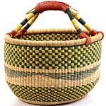 Replace plastic shopping bags with African Market baskets.