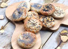 Hämmentäjä: The best chewiest bagels. Salmon filling and egg salad. Parhaat bagelit, lohitäyte ja egg salad