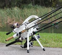 Introducing the latest in fishing rod transportation. Whether you're fishing bridges, beaches, or boats; inshore or offshore, freshwater or saltwater. Portable Fishing Rod, Fishing Rod Storage, Fishing Rigs, Fly Fishing Rods, Going Fishing, Best Fishing, Fishing Knots, Fishing Stuff, Fishing Pole Holder