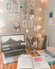what is your favorite study place? mine is defo my desk! Study Desk, Study Space, Study Room Decor, Bedroom Decor, Study Inspiration, Desk Inspiration Student, Dorm Desk, Study Corner, Uni Room