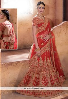 Captivating Heavy Zari Work Bridal Lehenga Choli