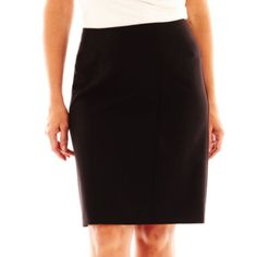 Worthington® Modern-Seamed Pencil Skirt - Plus   found at @JCPenney