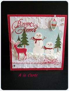 "Carte ""Bonne Année"" +enveloppe assortie : Cartes par sylviealacarte"