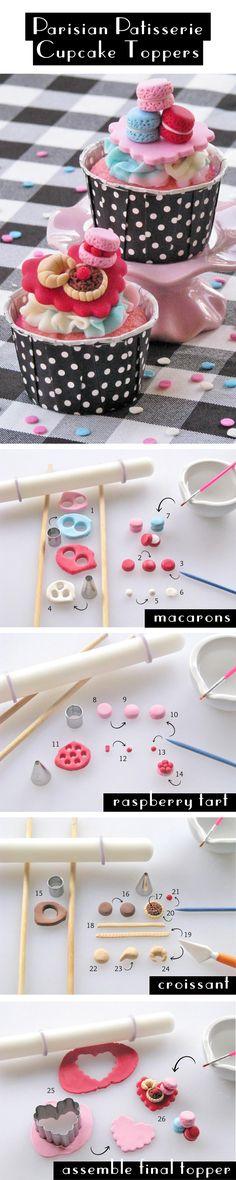 Ooh La La! How to Make Parisian Patisserie Cupcake Toppers