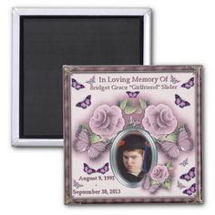 "Bridget Grace ""Girlfriend"" Slider Memorial Magnet"