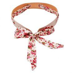 Stylehoops White Floral Bow Broad Belt #belt #ladiesbelt #floralbelt