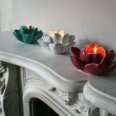 Resultado de imagen para ceramic flower de loto tutorial