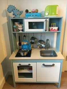 Ikea duktig kitchen hack for a little boy zora в 2019 г. Ikea Childrens Kitchen, Ikea Toy Kitchen Hack, Kids Toy Kitchen, Farmhouse Kitchen Cabinets, Kitchen Hacks, Ikea Custom, Ikea Duktig, Ikea Toys, Colorful Playroom