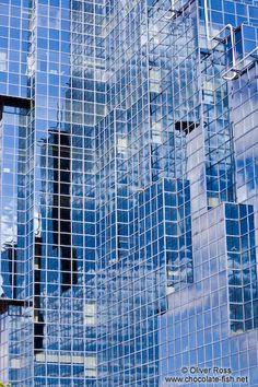 Modern glass facade in London