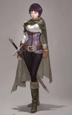 warrior, fighter, swordswoman