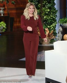 Phone story: Hilary Duff during an appearance on The Ellen DeGeneres Show on Monday sought...