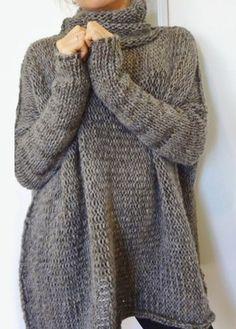 Cuello alto de manga larga del suéter del dobladillo asimétrico     Fashionerly Ropa Casual fb7574099a43