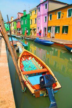 Burano, Italy en bote de Vin Pezz.