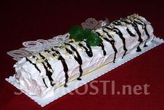 Banánová roláda s tvarohovou šlehačkou Sushi, Christmas Recipes, Ethnic Recipes, Cakes, Cake Makers, Kuchen, Cake, Pastries, Cookies