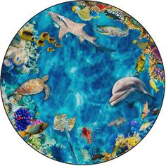 Into the Sea 12' Round Rug