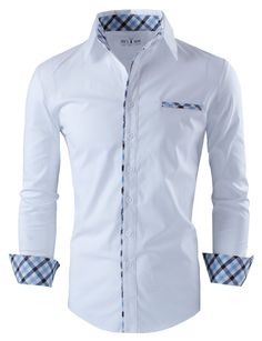 Tom's Ware Mens Premium Casual Inner Layered Dress Shirt at Amazon Men's Clothing store: Button Down Shirts