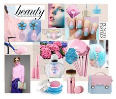 """""""Pink & Blue"""" by anabritt on Polyvore featuring Hello Kitty, Smith & Cult, La Cartella, NARS Cosmetics, Givenchy, Christian Dior, Too Faced Cosmetics and Christina Addison"""