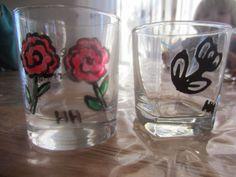 Glas verven met Action verf
