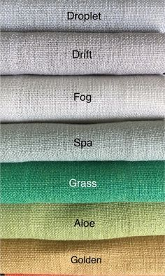Natura Collection available in 40 colors! Shabby Chic Curtains, Linen Curtains, Linen Fabric, Bed Linen, Colour Pallete, Colour Schemes, Colored Burlap, Color Combinations For Clothes, Drapery Designs