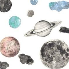 NEW Large Sheet. The moon and planets too...Love Mae's delightful FABRIC wall stickers are lovingly designed with the finer details in mind. Our gorgeous decals are incredible quality can be applied to just about any surface. They are re-usable and removable which means you can move them around as much as you like. Great for getting the layout of them just perfect…. or putting them back up easily when little fingers... @alfiewildkids