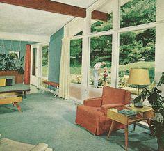 1960 Decor retro style (1950s) basement | basement | pinterest | retro style