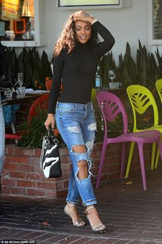Slaying the fashion game: The 28-year-old actress looked amazing during her lunch outing w...
