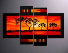 hand-painted oil paintings on canvas. It is nicely done oil painting of Landscape in Modern style. This painting is painted with great skill, masterful brush strokes by our talented artist. Multi Canvas Painting, Multi Canvas Art, Modern Canvas Art, Contemporary Wall Art, Canvas Wall Art, Landscape Painting Artists, Modern Oil Painting, Art Pictures, Decoration