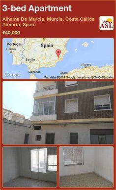 3-bed Apartment in Alhama De Murcia, Murcia, Costa Cálida Almería, Spain ►€40,000 #PropertyForSaleInSpain