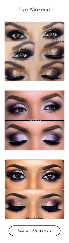 """""""Eye Makeup"""" by never-say-never1d ❤ liked on Polyvore featuring beauty products, makeup, eye makeup, eyes, beauty, maquiagem, eyeshadow, eyeliner, make and eye brow makeup"""