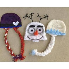 Keep your little one warm and in style with one of these hand-made knitted character hats. Available in Purple Princess, White Princess, and Snowman style, there is one for each personal style. Detail                                                                                                                                                     More