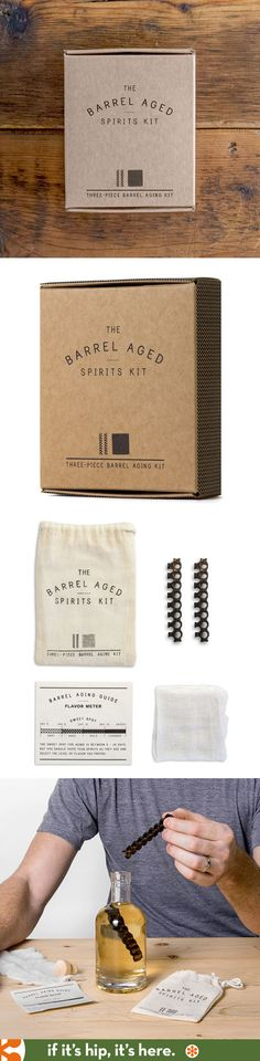 The Barrel Aged Spirits Kit is a cool gift that is nicely packaged.
