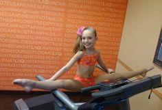 Maddie stretching
