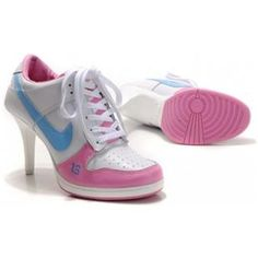 best service bb9b6 38f25 Eye-catching Nike Dunk Heels Newest Women Boots White Pink Bule Logo. Blue ShoesNike  High ...