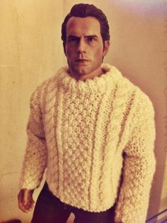 Dom. This is a Hot Toys True Type TTM20 body with a Henry Cavill head and hand-knitted sweater by Cecilia at https://www.etsy.com/uk/shop/angharadgruffyd