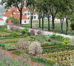 George Washington's Mount Vernon Lower Kitchen Garden, Alexandria, Virginia, USA