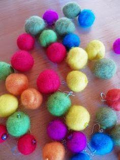 Live In Art: Felted Bead Earrings
