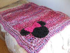 Minnie Mouse crochet blanket Minnie pink by StarlingNightCrochet, $150.00