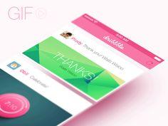 What a great, playful responsive UI design Application Mobile, Application Design, Ux Design, Mobiles, Ui Animation, Wordpress, 1 Gif, Mobile Ui Design, Mobile App Ui