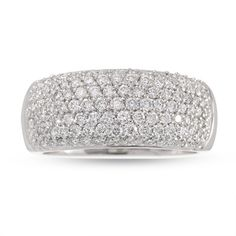 pave setting diamond bands for women   pave set diamonds totaling 1 ct glitter with mystical magnificence