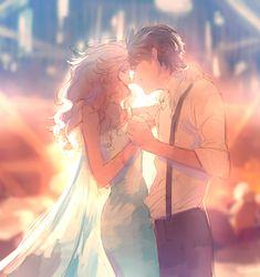 Image about couple in Jelsa by Órelindë on We Heart It Anime Couples Manga, Cute Anime Couples, Couple Sketch, Jack Frost And Elsa, Romantic Manga, Couple Illustration, Disney Frozen Elsa, Jelsa, Anime Art Girl