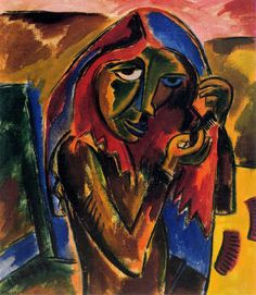 'Girl Combing' by Karl Schmidt-Rottluff  Following World War One, as Expressionism was officially recognized in Germany, Karl Schmidt-Rottluff had artistic honors bestowed upon him for his contributions to the movement. However, these were removed with the rise of the Nazis; Schmidt-Rottluff was dismissed from the Prussian Academy of Arts in 1933, only two years after his admission, and had 608 of his pieces seized as Degenerate Art. From 1941, he was forbidden to paint. Along with Erich…