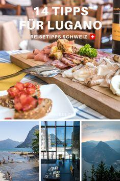 Tessin: 14 Tipps für das wunderschöne Lugano in der Sonnenstube der Schweiz. Food-Tipps, Todos, Hotel, Sehenswürdigkeiten u.v.m. Lugano, Tolle Hotels, Stuff To Do, Things To Do, Reisen In Europa, Tips, Travel Europe, Food, Travel Inspiration