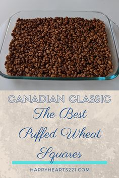 Stuck inside self isolating or under quarantine? Check out this quick and easy recipe for AMAZING Puffed Wheat Squares! These are sure to become a family favourite. Banana Dessert Recipes, Cereal Recipes, Easy Cookie Recipes, Fun Desserts, Sweet Recipes, Baking Recipes, Delicious Desserts, Puffed Wheat Cake, Puffed Wheat Squares