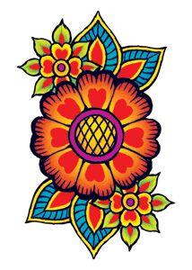 Hippie Flowers Temporary Tattoo
